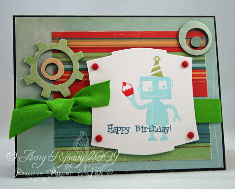 MCS Happy Birthday Robot Card by AmyR