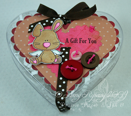 CCD AmyR Stamps Bunny Valentine Heart Container by AmyR