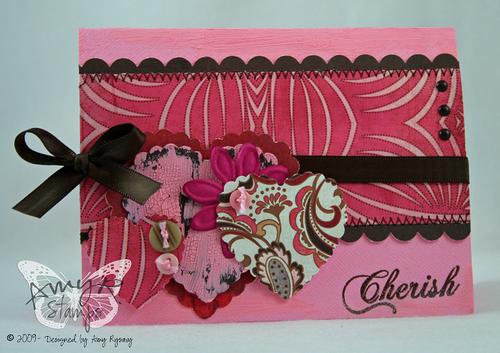 AmyR Stamps Cherish Sketch Card by AmyR