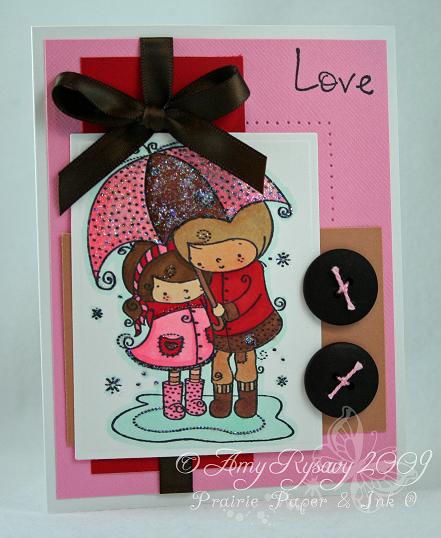 RAM Love Umbrella Card by AmyR