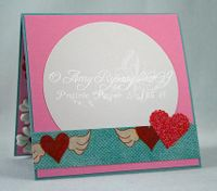Fluffles Love is in the air card Inside by AmyR