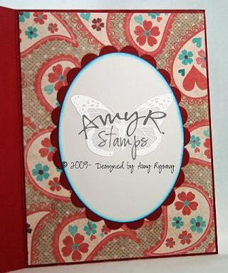AmyR Stamps Warm and Cozy Coat Card Inside by AmyR