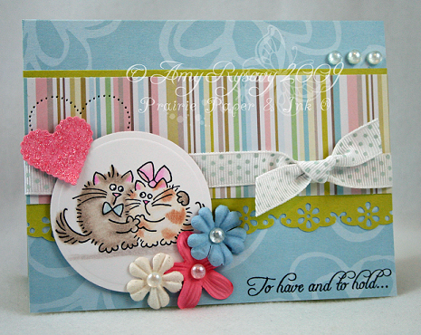 Fluffles To Have and To Hold Card by AmyR