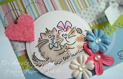 Fluffles To Have and To Hold Card Closeup by AmyR