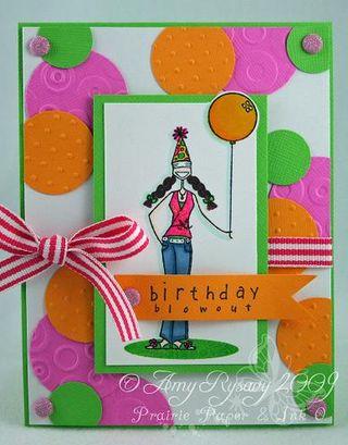 Bella Birthday Blowout Card 1 by AmyR