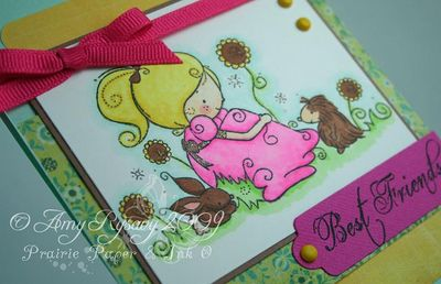 RAM AmyR Stamps Best Friends Card Closeup by AmyR
