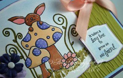 CC Mushroom Old Friend Card Closeup by AmyR