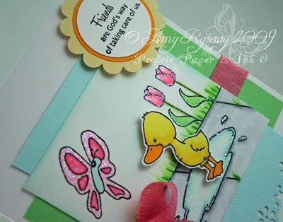 CCD Ducky Friends Card Closeup by AmyR