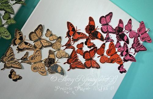 Butterfly Canvases Closeup 2 by AmyR