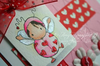 Bella LoveBug Valentine Card Closeup by AmyR