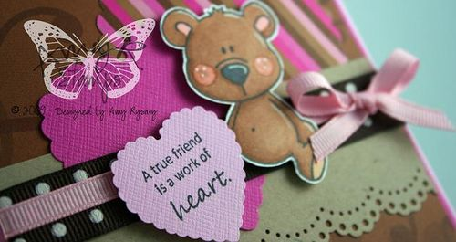 AmyR Stamps Friend Bear Heart Card Closeup by AmyR
