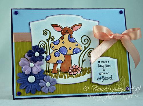 CC Mushroom Old Friend Card by AmyR