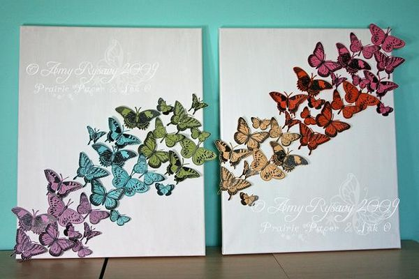 Butterfly Canvases by AmyR