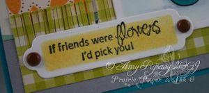 CCD Tweeties Flower Friends Card Closeup Sentiment by AmyR