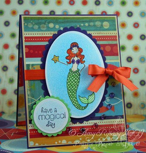 Bella mermaid magical day card by AmyR