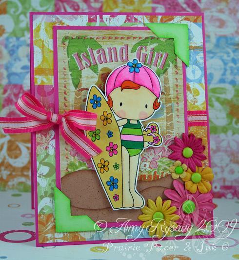 CCD Sugarplums Beach Island Girl Card by AmyR