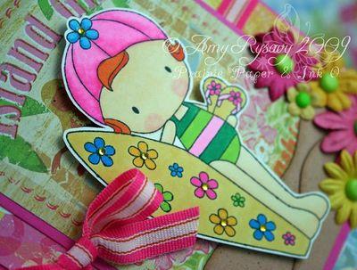 CCD Sugarplums Beach Island Girl Card Closeup by AmyR