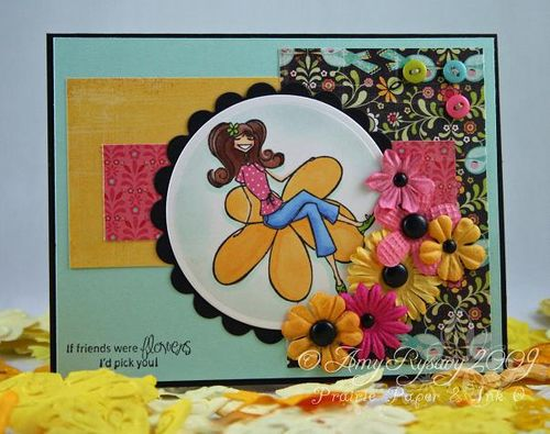 TF Sketch 1 Sample Bella Flower Card by AmyR