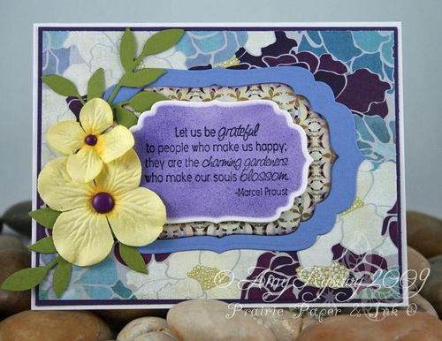 AmyR Stamps Thank You Sentiments Charming Gardener Card by AmyR