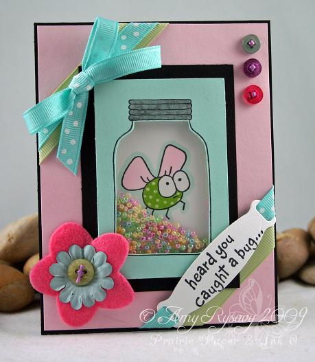 CCD CC Caught a Bug Shaker Card by AmyR