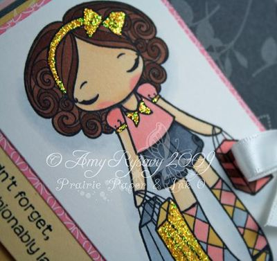 Anya Happy Belated Birthday Card Closeup by AmyR