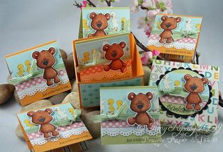 CCD Beary Thanks 3x3 Box Cards by AmyR