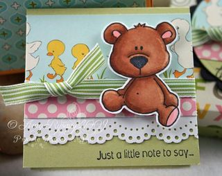 CCD Beary Thanks 3x3 Box Single Card by AmyR