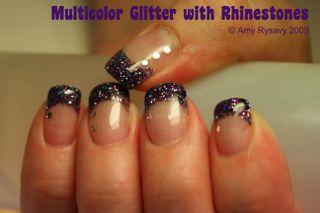 Multicolor glitter with rhinestones 1