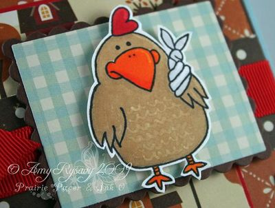 CC Get Well Chicken Card Closeup by AmyR