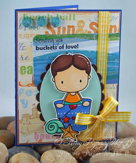 CCD Beachies II Buckets of Love Card by AmyR