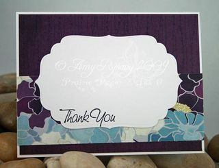 AmyR Stamps Thank You Sentiments Charming Gardener Card Inside by AmyR
