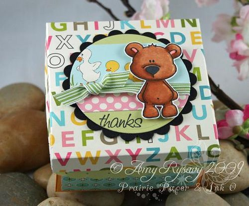 CCD Beary Thanks 3x3 Box by AmyR