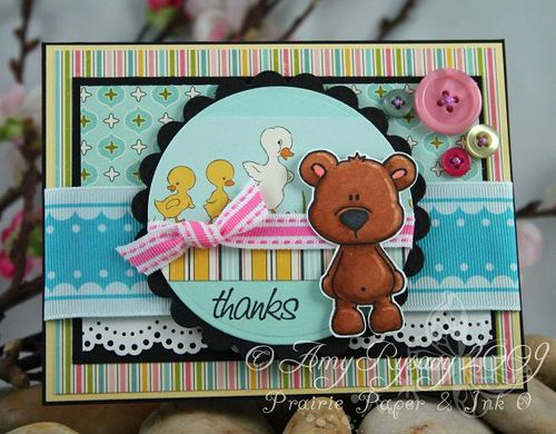 CCD Bear Hugs Sketch Sample Thanks Card by AmyR