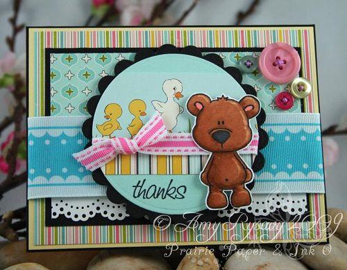 CCD Bear Hugs Sketch Sample Thanks Card by AmyR