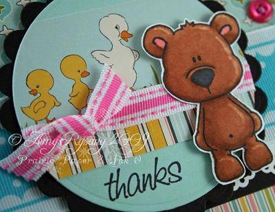 CCD Bear Hugs Sketch Sample Thanks Card Closeup by AmyR