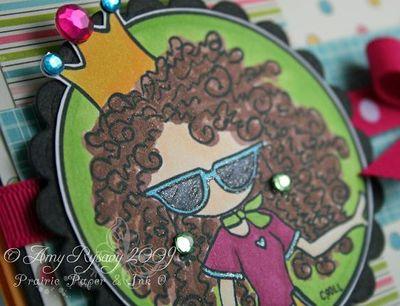 Bella Special Birthday Card Closeup by AmyR