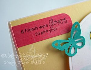 CCD Swiss Pixies Heidi Flower Card Closeup Sentiment by AmyR