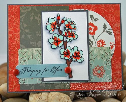 AmyR Stamps Sympathy Praying For You by AmyR