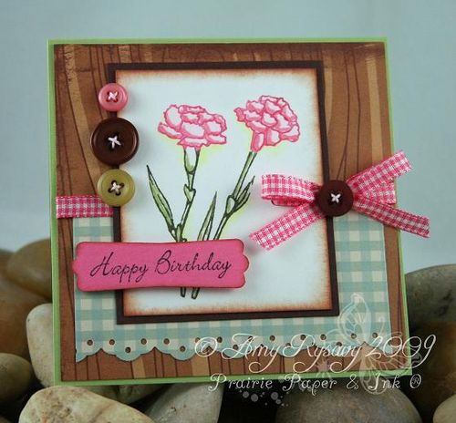 AmyR Stamps Fresh Flowers Hppy bdy Card by AmyR
