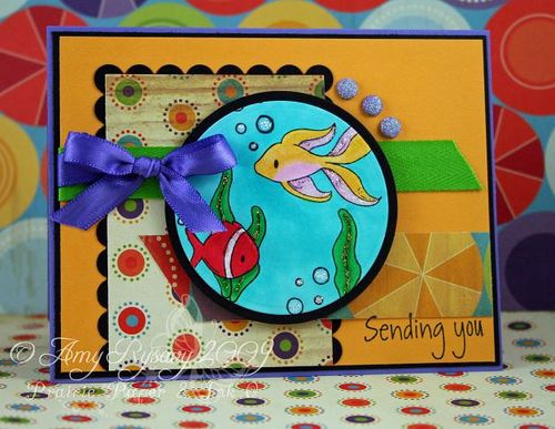 AmyR Stamps Underwater Sentiments Sample Card 1 by AmyR