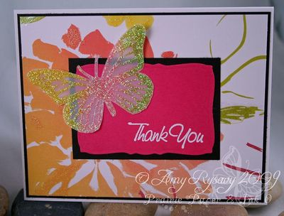 AmyR Stamps Glitter Vellum Butterfly TY Cards Closeup by AmyR