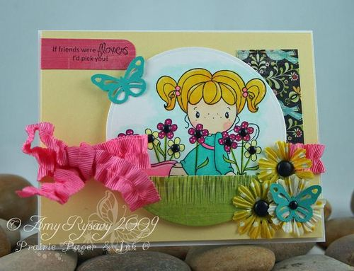 CCD Swiss Pixies Heidi Flower Card by AmyR