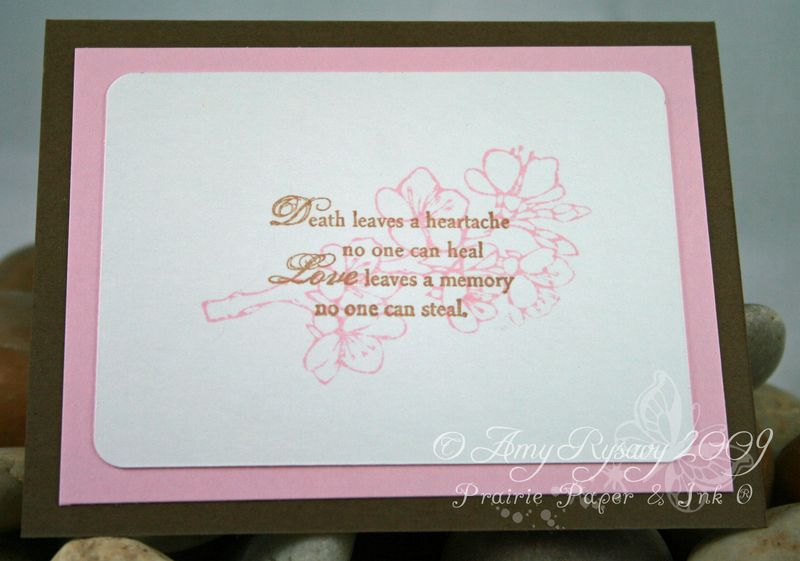 AmyR Stamps Sympathy Simple Floral Card Inside by AmyR
