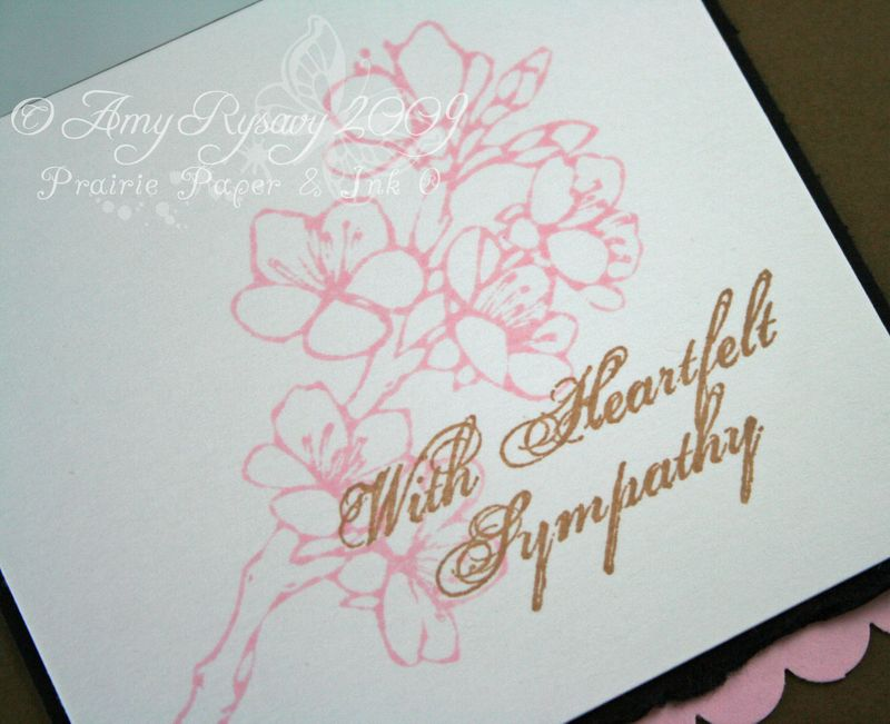 AmyR Stamps Sympathy Simple Floral Card Closeup by AmyR