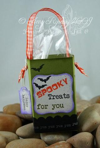 AmyR Stamps Spooky Sentiments Boo Boxes Green by AmyR