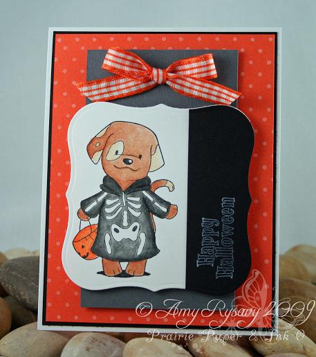 CCD Diem Halloween Candy Puppy Skeleton Card by AmyR