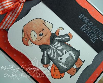 CCD Diem Halloween Candy Puppy Skeleton Card Closeup by AmyR