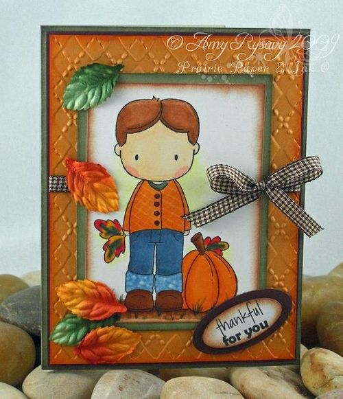 CCD Autumn Sugarplums Christopher Pumpkin Card by AmyR