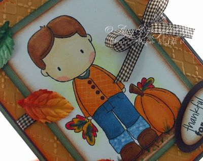 CCD Autumn Sugarplums Christopher Pumpkin Card Closeup by AmyR