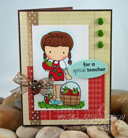 CCD Autumn Sugarplums Apple Emma Teacher Card by AmyR